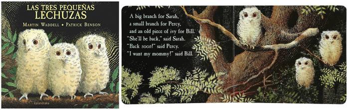 mejores cuentos infantiles 3 a 5 años, libros recomendados tres pequeñas lechuzas kalandraka