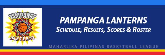 MPBL: Pampanga Lanterns Schedule, Results, Scores, Roster