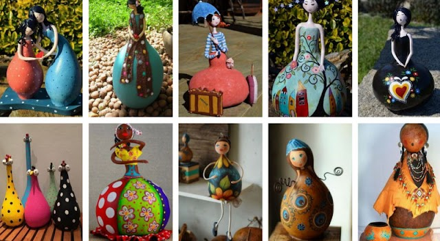 DIY Φιγούρες-Κούκλες από αποξηραμένες Κολοκύθες