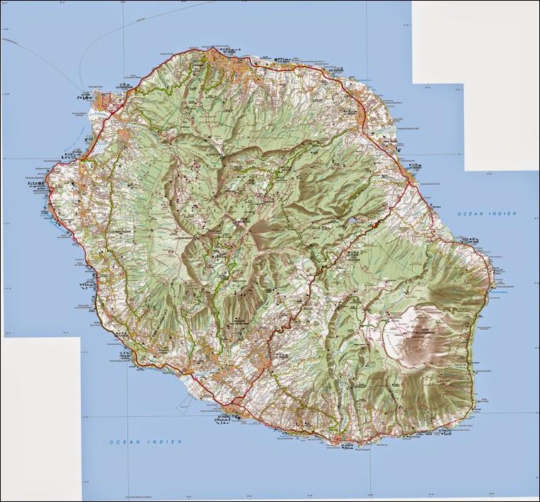 Carte de la Réunion 1 / 100 000