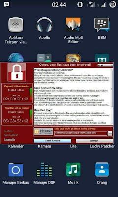 Cara Mengatasi Virus Ransomware WannaCry di Android
