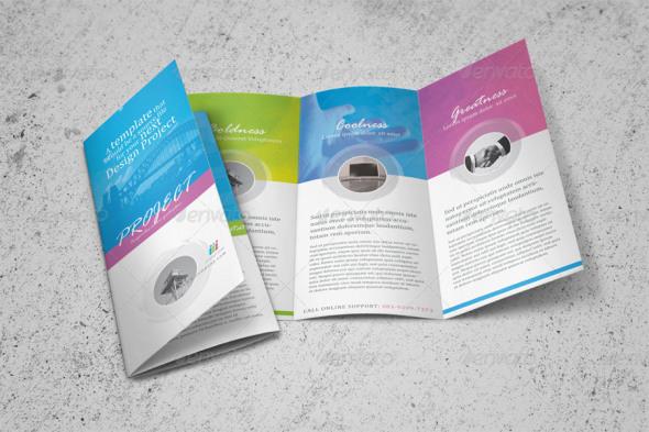 100 Free Premium Brochure Templates Photoshop PSD InDesign AI – 3 Fold Flyer Template