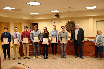 All State Music Award Winners from Franklin High School recognized by the School Committee