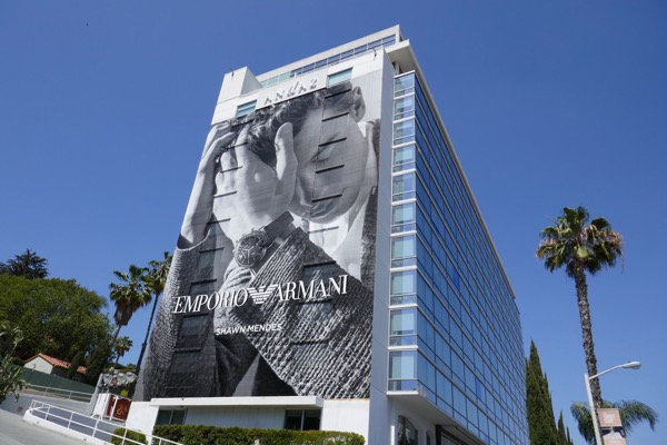 Giant Emporio Armani Shawn Mendes billboard