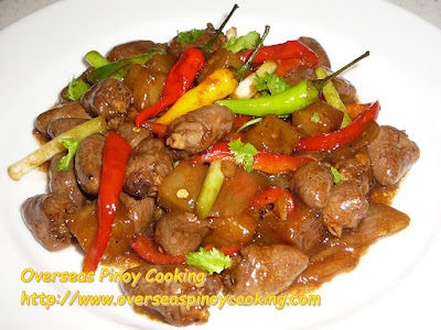 Stirfry Chicken Heart in Oyster Sauce
