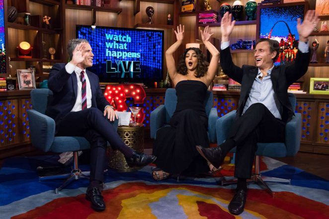 Priyanka Chopra In Black Watch What Happens Live Show