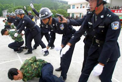 Demonstrating execution protocol, China