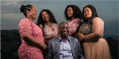 1b - Meet the 43-year-old South African man with 4 wives who wants other men to be polygamous (Photos)