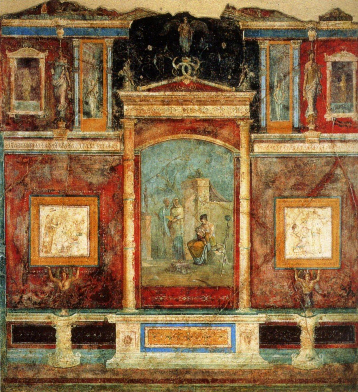 Rome - Style de peinture murale ...
