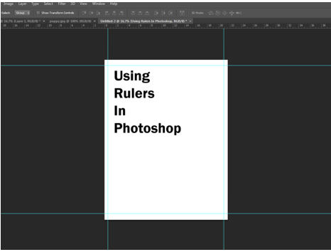 Rulers Set up in Photoshop