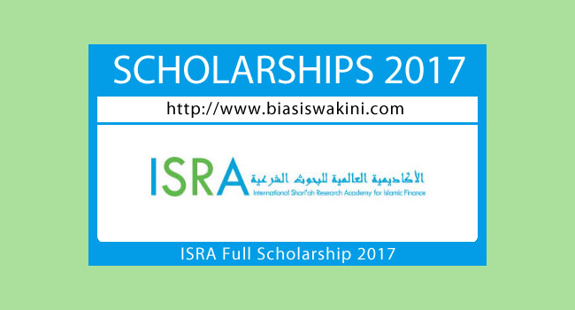 ISRA Full Scholarship 2017