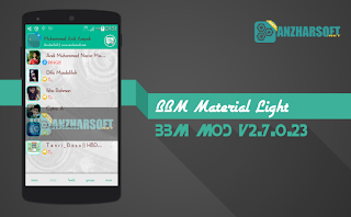 BBM Material Light - BBM Mod Android Material Design dengan Fitur Animated Background