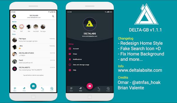 GBWhatsApp DELTA v1.1.1 Style WAMOD(Instagram)