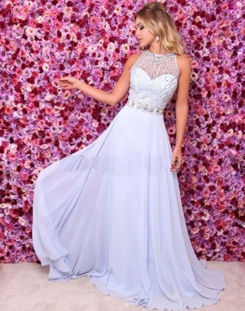 vestido azul serenity madrinha