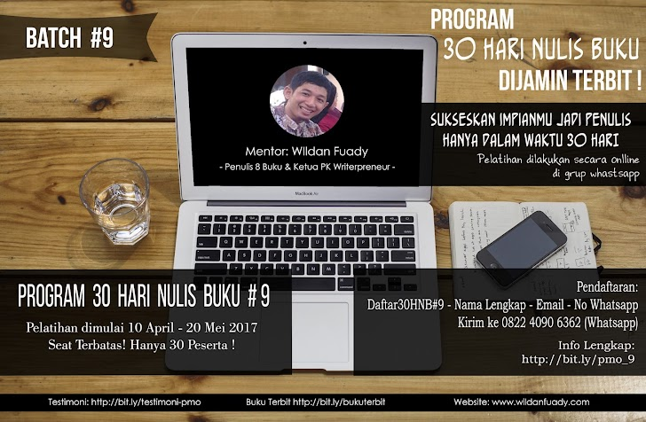 Pelatihan Menulis Online Batch #9