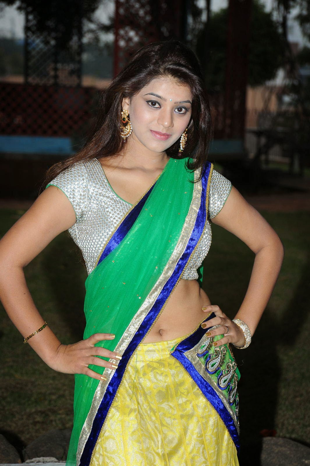 Actress Yamini Hot Hd Phots In Saree, Yamini Backless -8333