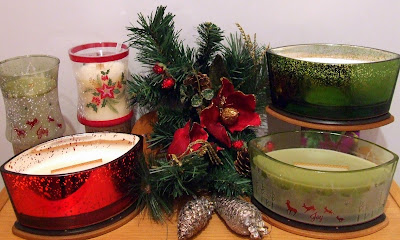 Christmas candle selection from WoodWick