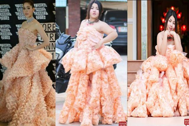Unik - Buat Baju Dari Kerupuk Udang, Foto Gadis ini Mendadak Jadi Viral di Medsos.