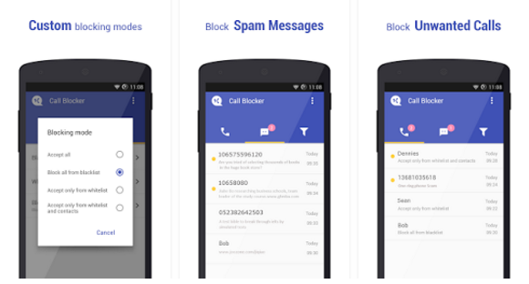 افضل تطبيقات و برامج حظر المكالمات لهواتف الأندرويد - تطبيق Call Blocker
