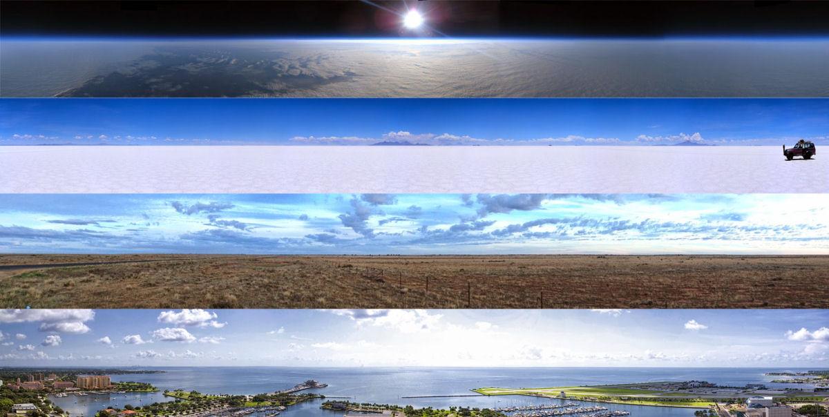 A realidade revela um mundo completamente plano