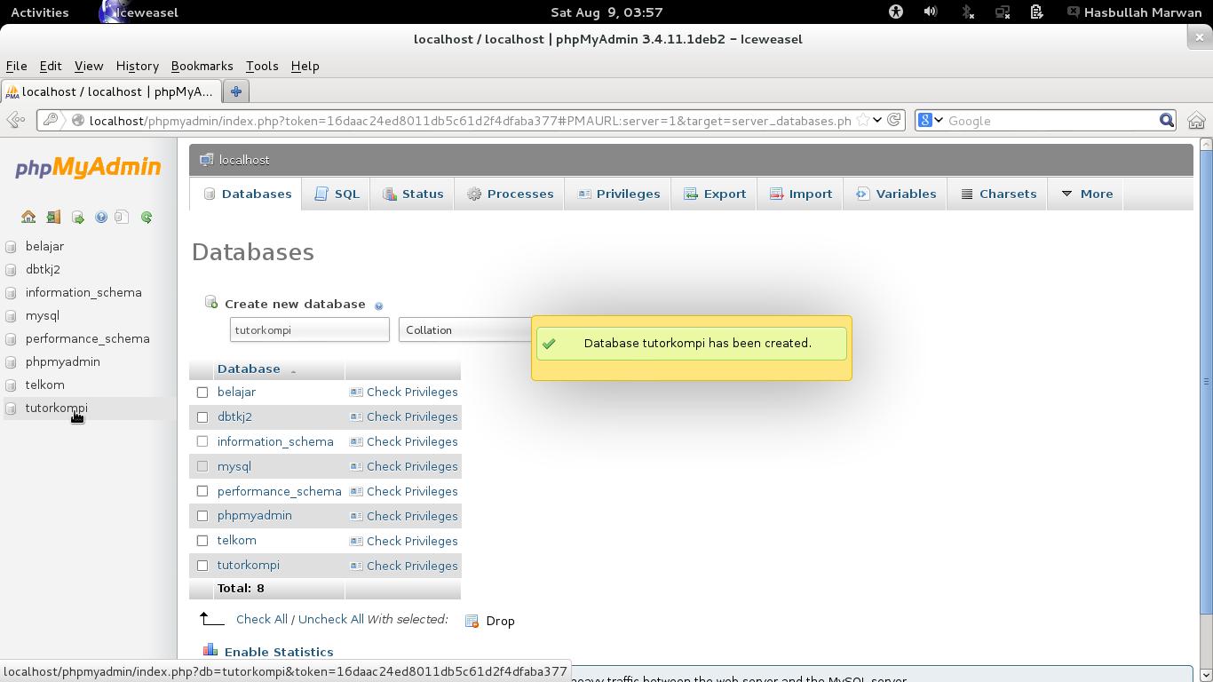Cara instalasi Drupal 7 di Linux (lengkap dengan screenshot)