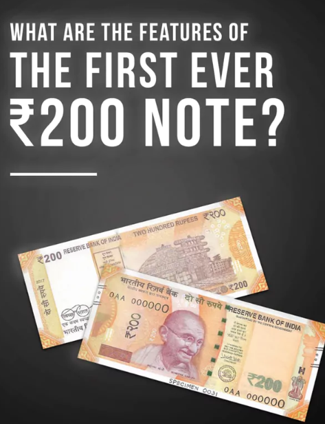 📣Features of the all new Indian 200 rupee note which are