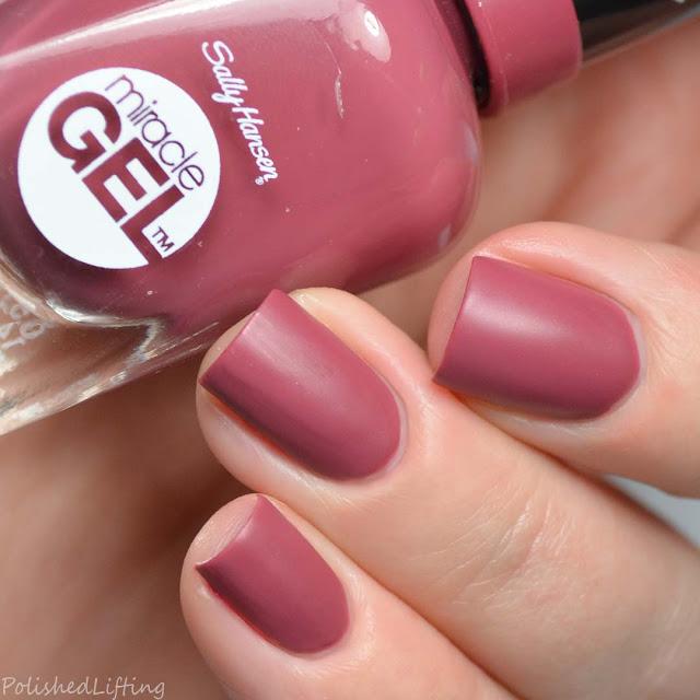 raspberry matte nail polish