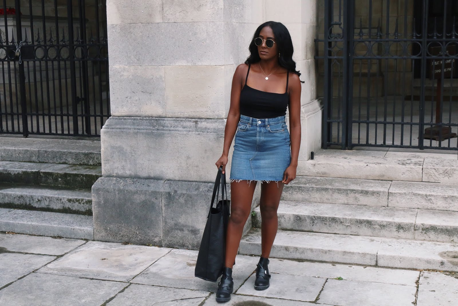 denim skirt edgy