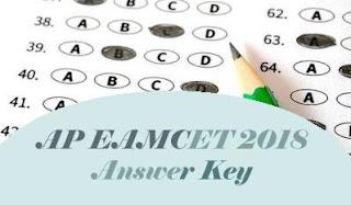 AP EAMCET Answer Key, AP EAMCET Key 2018, AP EAMCET 2018 Key, EAMCET Answer Key 2018, EAMCET 2018 Answer Key