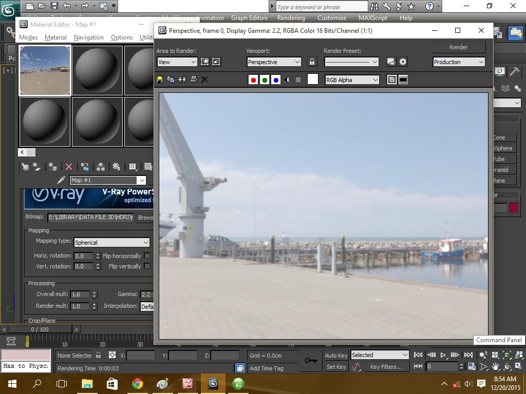 Membuat material vray hdri di 3ds max - 3d max tutorials