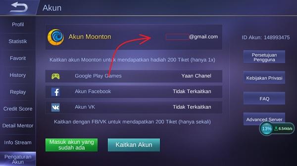 Cara Membuat Akun Moonton dan Menautkan di Mobile Legends