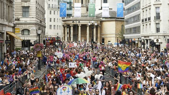 LONDON'S GAY PRIDE CELEBRATION ...