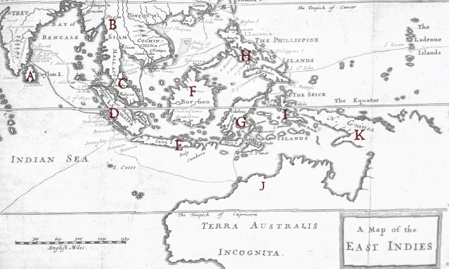 The Luck Stat: Pirates of the East Indies: Map