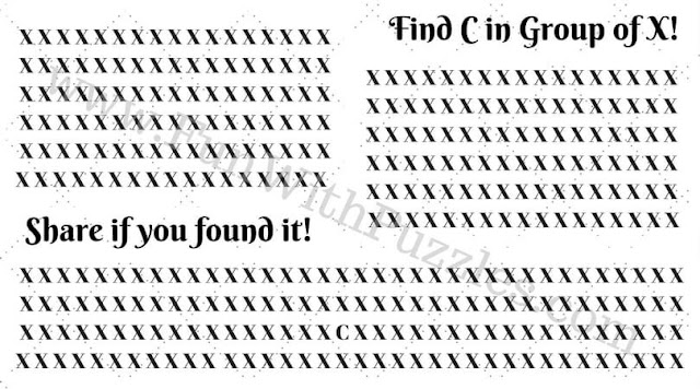 Hidden letter finding brain teaser