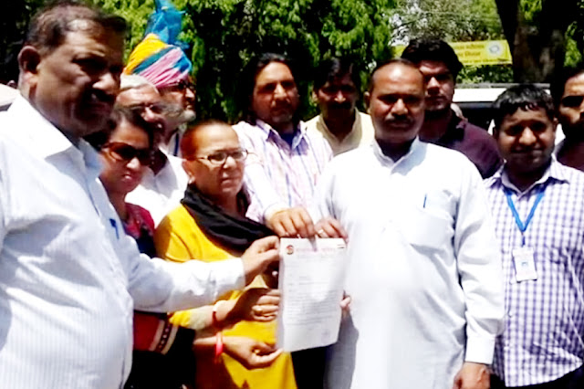 Human Integration Council handed over memorandum to the Faridabad corporator in protest against slaughterhouses