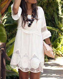 Vestido Blanco de Encaje