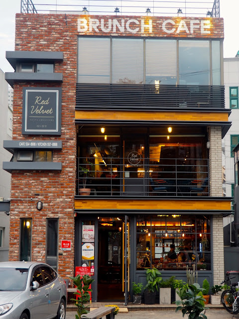 Exterior of Red Velvet Cafe in Myeongnyun, Busan, South Korea