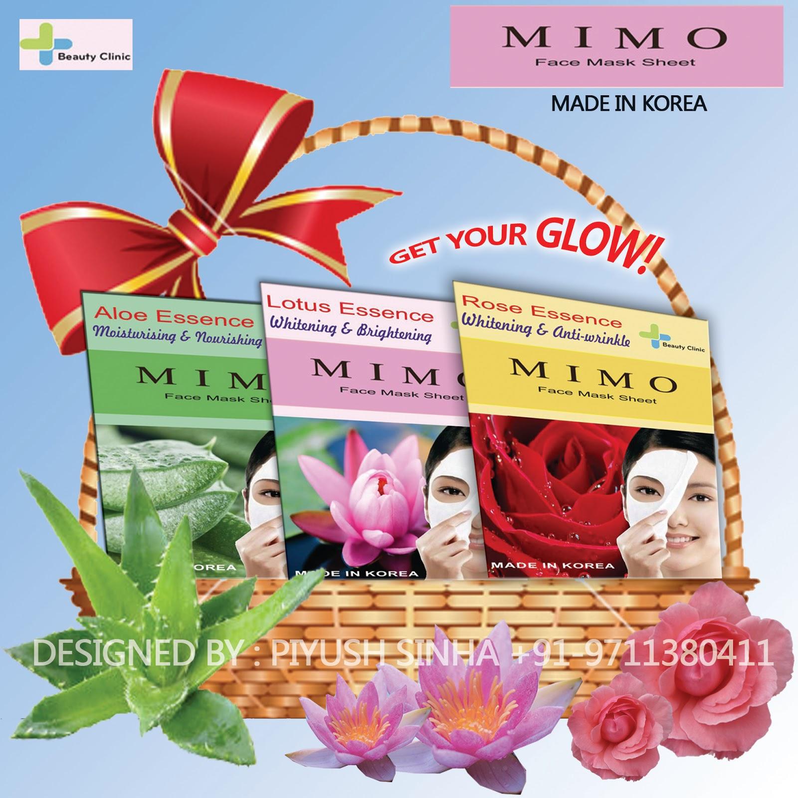 Mimo Sheet Face Mask Lotus Essence Mimo Cosmetics India
