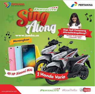 Informasi Lomba Pertalite Sing Along by Pertamina Hadiah Honda Vario Dan Xiaomi Mi4i Deadline 3 Desember 2016