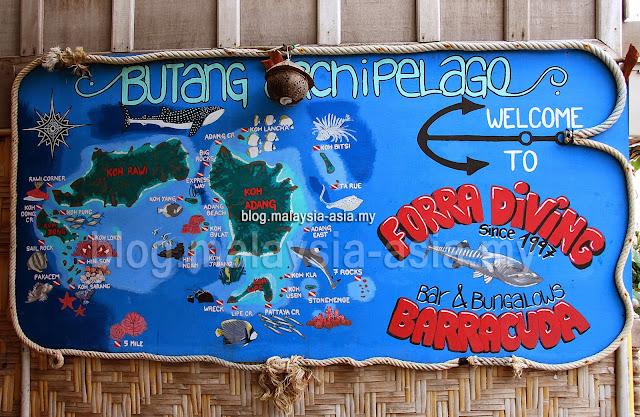 Dive sites at Koh Lipe