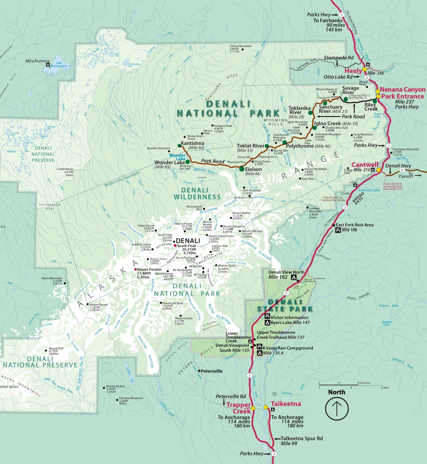 Map Of Denali Park