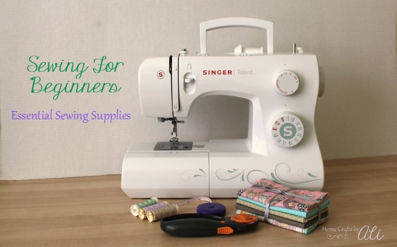 sewing for beginners essential sewing supplies cover photo