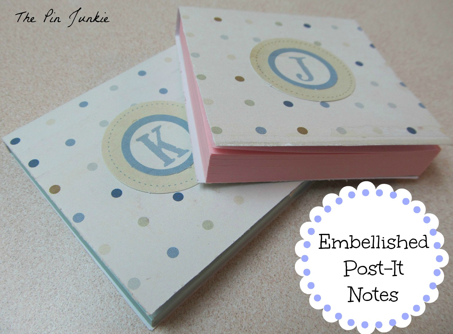 monogramed post it holders