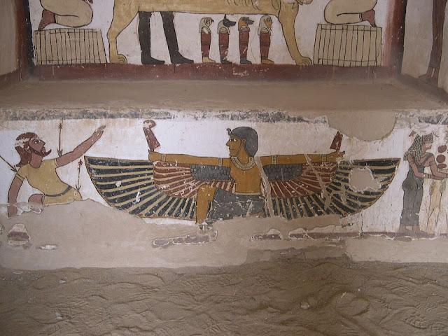 Paintings from the tomb of Petosiris at Muzawaka (XLIV)