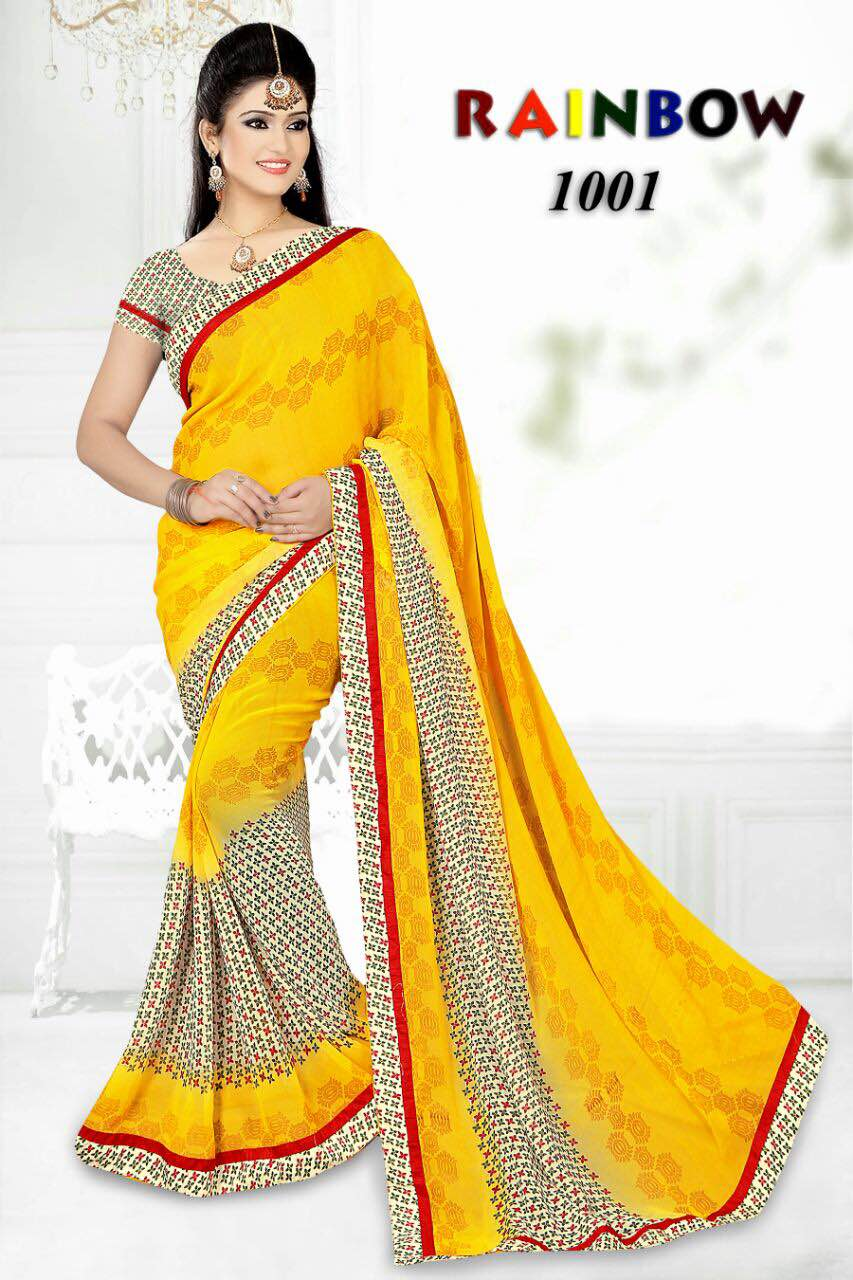 RainBow – New Collection Printed Saree Wholesale Buy Online