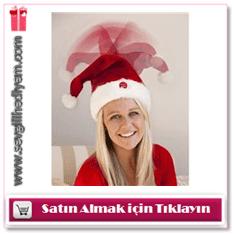 Müzikli Hareketli Noel Baba Şapkası