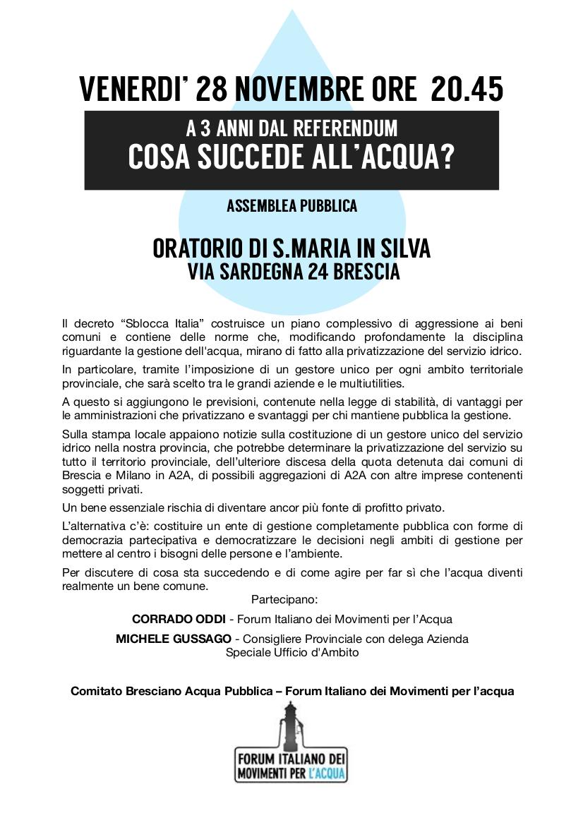 Blog Rifondazione Comunista Brescia: Acqua: a tre anni dal ...