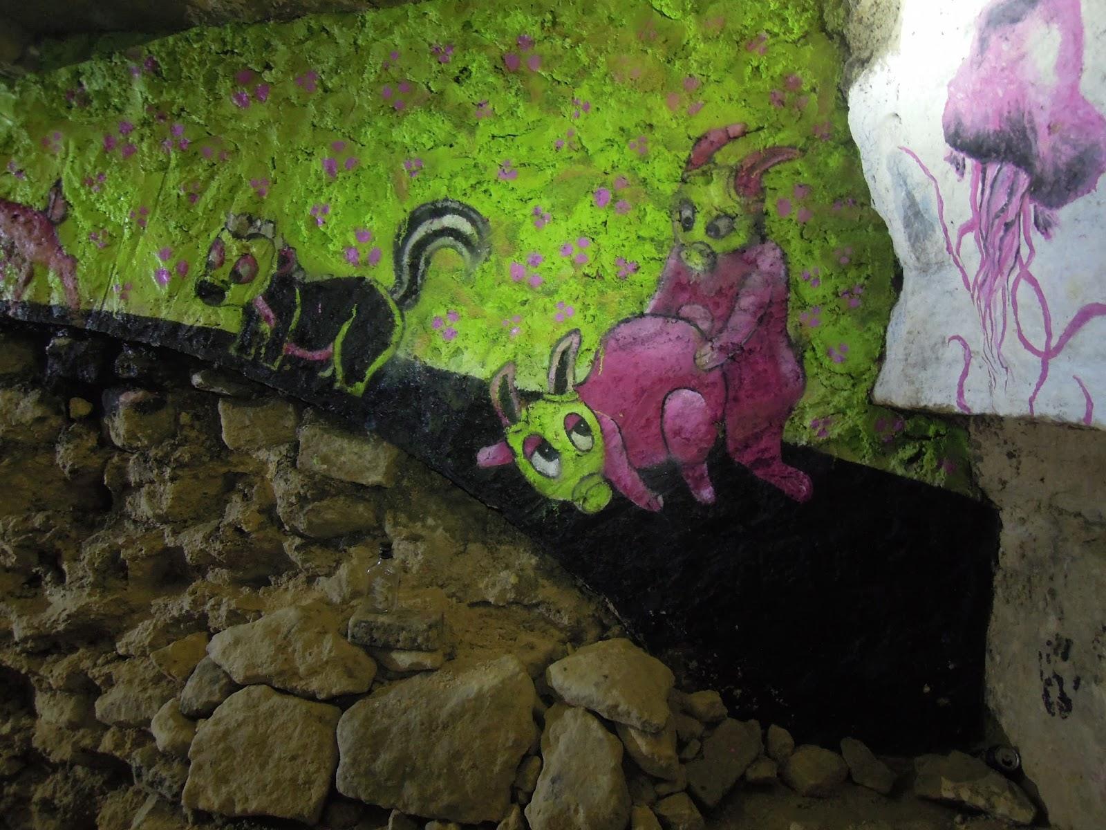 tag dans les catacombes interdites