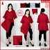 HNB274 Model Dress Brokat Layer Ukuran Besar Jumbo BMG Shop