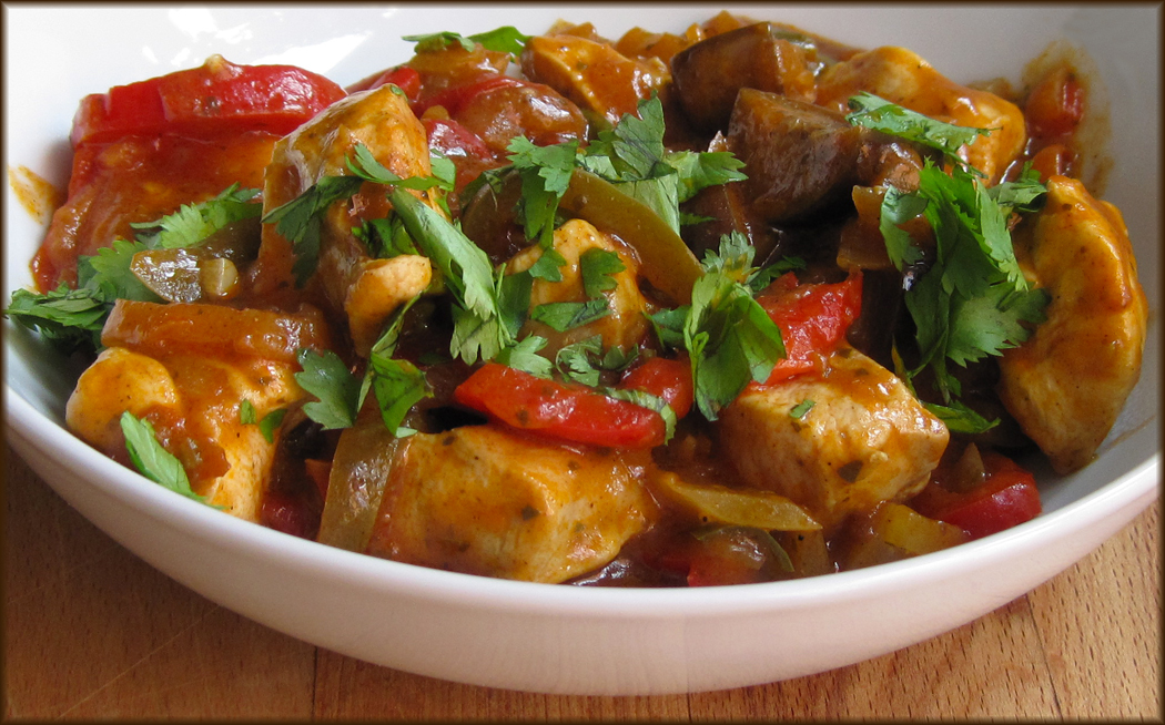 Chicken and Aubergine Curry